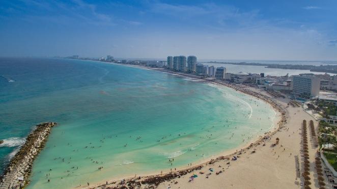 Cancun Strand Luftbild